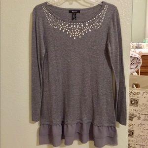 Style & Co. embellished sweater tunic